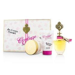 Juicy Couture Couture Couture Coffret: Eau De Parfum Spray 100ml/3.4oz + Body Creme 100ml/3.4oz + Shower Gel 125ml/4.2oz  3pcs