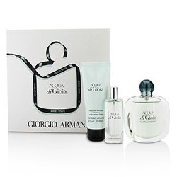 Giorgio Armani Acqua Di Gioia Coffret: Eau De Parfum Spray 50ml/1.7oz + Eau De Parfum Spray 15ml/0.5oz + Body Lotion 75ml/2.5oz  3pcs