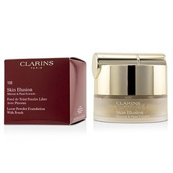 Clarins Skin Illusion Mineral & Plant Extracts Loose Powder Foundation (With Brush) (New Packaging) - # 108 Sand  13g/0.4oz
