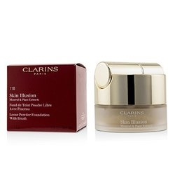 Clarins Skin Illusion Mineral & Plant Extracts Loose Powder Foundation (With Brush) (New Packaging) - # 110 Honey  13g/0.4oz