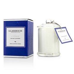 Glasshouse شمع معطر ثلاثي - Cyprus (أملاح البحر والزعفران)  60g