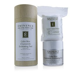 Eminence Calm Skin Chamomile Exfoliating Peel (with 35 Dual-Textured Cotton Rounds)  50ml/1.7oz