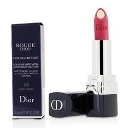 Christian Dior Rouge Dior Double Rouge Matte Metal Colour & Couture Contour Lipstick - # 288 Miss Crush  3.5g/0.12oz
