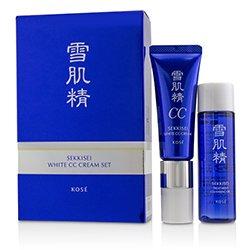 Kose Sekkisei White CC Cream Set: Sekkisei White CC Cream SPF50+ PA++++ - # 01 Light Ochre 26ml/1oz + Sekkisei Treatment Cleansing Oil 35ml/1.1oz  2pcs