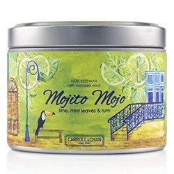 The Candle Company Tin Can 100% Beeswax Candle with Wooden Wick - Mojito Mojo  (8x5) cm