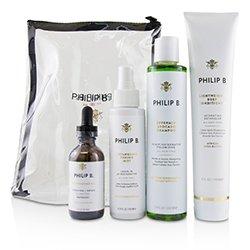 Philip B Four Step Hair & Scalp Treatment Set - # Classic formula (All Hair Types)  4pcs