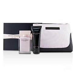 Narciso Rodriguez For Her Coffret: Eau De Parfum Spray 50ml/1.6oz + Her Body Lotion 75ml/2.5oz + Pouch  2pcs+1Pouch
